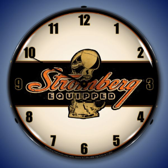 STOMBERG EQUIPPED  BACKLIT LIGHTED CLOCK