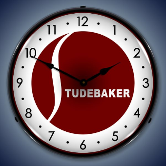 STUDEBAKER  BACKLIT LIGHTED CLOCK