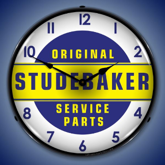 STUDEBAKER  PARTS BACKLIT LIGHTED CLOCK