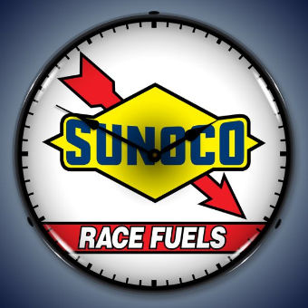 SUNOCO RACE FUELS BACKLIT LIGHTED CLOCK