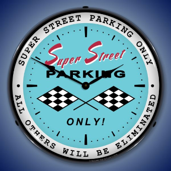 SUPER STREET  PARKING BACKLIT LIGHTED CLOCK