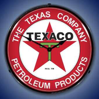 TEXACO THE TEXAS COMPANY  BACKLIT LIGHTED CLOCK
