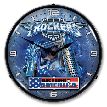 TRUCKERS USA  BACKLIT LIGHTED CLOCK