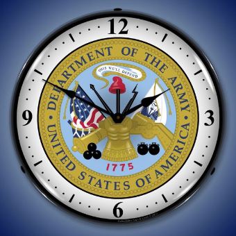 US ARMY SEAL BACKLIT LIGHTED CLOCK