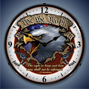 WE THE PEOPLE  BACKLIT LIGHTED CLOCK