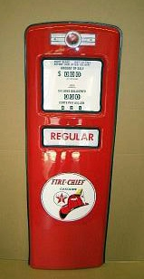 TEXACO FIRE CHIEF  GAS PUMP DOOR DISPLAY