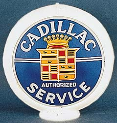 CADILLAC SERVICE GAS PUMP GLOBE - NEW FULL SIZE REPRODUCTION