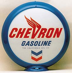 CHEVRON GASOLINE GAS PUMP GLOBE - NEW FULL SIZE REPRODUCTION