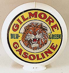GILMORE BLU-GREEN GASOLINE GAS PUMP GLOBE - NEW FULL SIZE REPRODUCTION