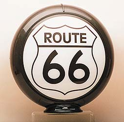 ROUTE 66 GAS PUMP GLOBE - NEW FULL SIZE REPRODUCTION