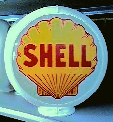 SHEL GAS PUMP GLOBE - NEW FULL SIZE REPRODUCTION