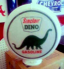 SINCLAIR DINO GAS PUMP GLOBE - NEW FULL SIZE REPRODUCTION