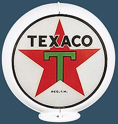TEXACO STAR GAS PUMP GLOBE - NEW FULL SIZE REPRODUCTION