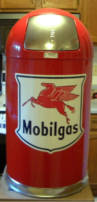 MOBILGAS SHIELD DOME TRASH CAN - RED