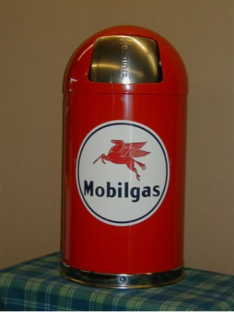 MOBILGAS  DOME TRASH CAN - RED