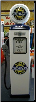 CHEVROLET GAS PUMP - FULL SIZE REPRODUCTION OF OLD 1950s CLASSIC ANTIQUE COLLECTIBLE GAS STATION MEMORABILIA
