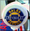CHEVROLET SALES SERVICE GAS PUMP GLOBE - NEW FULL SIZE REPRODUCTION