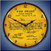 1906 WRIGHT FLYER PATENT  BACKLIT LIGHTED CLOCK
