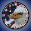 AMERICAN BALD EAGLE  BACKLIT LIGHTED CLOCK