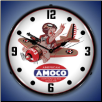 AMOCO AVIATION  BACKLIT LIGHTED CLOCK