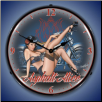 ASPHALT ALICE  BACKLIT LIGHTED CLOCK