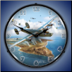 B-24 LIBERATOR  BACKLIT LIGHTED CLOCK