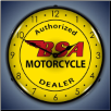 BSA MOTORCYCLE  BACKLIT LIGHTED CLOCK