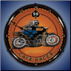 CAFE RACER  BACKLIT LIGHTED CLOCK