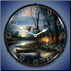 EVENING GLOW  BACKLIT LIGHTED CLOCK