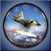F-106 5TH FIS  BACKLIT LIGHTED CLOCK