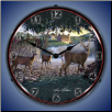 FIELD OF DREAMS  DEER  BACKLIT LIGHTED CLOCK