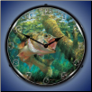 FISHING THE WOOD LARGEMOUTH BASS  BACKLIT LIGHTED CLOCK