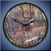 GREAT EIGHT WHITETAIL DEER  BACKLIT LIGHTED CLOCK