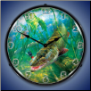 IN THE THICK OF IT MUSKIE BACKLIT LIGHTED CLOCK