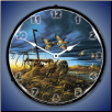 LANDMARK MALLARDS  BACKLIT LIGHTED CLOCK