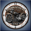 LEGENDS  MOTORCYCLE  BACKLIT LIGHTED CLOCK