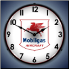 MOBILGAS AIRCRAFT  BACKLIT LIGHTED CLOCK