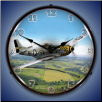 P-51 MUSTANG  BACKLIT LIGHTED CLOCK