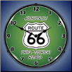 ROUTE 66 THE MOTHER ROAD BACKLIT LIGHTED CLOCK