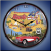 ROUTE 66 USA  BACKLIT LIGHTED CLOCK