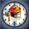 SANTE FE CHIEF  BACKLIT LIGHTED CLOCK