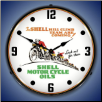 SHELL MOTORCYCLE OIL   BACKLIT LIGHTED CLOCK