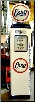 ESSO  GAS PUMP - FULL SIZE REPRODUCTION OF OLD 1950s CLASSIC ANTIQUE COLLECTIBLE GAS STATION MEMORABILIA