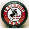 FRONTIER GAS GAS PUMP GLOBE - NEW FULL SIZE REPRODUCTION
