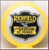 RICHFIELD GASOLINE OF POWER GAS PUMP GLOBE - NEW FULL SIZE REPRODUCTION