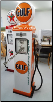 GULF GAS PUMP - FULL SIZE REPRODUCTION OF OLD 1950s CLASSIC ANTIQUE COLLECTIBLE GAS STATION MEMORABILIA