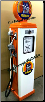 HUSKY GAS PUMP - FULL SIZE REPRODUCTION OF OLD 1950s CLASSIC ANTIQUE COLLECTIBLE GAS STATION MEMORABILIA