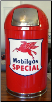 MOBILGAS  SPECIAL SHIELD DOME TRASH CAN -RED