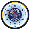 "OLDS SERVICE 20"" GENUINE NEON CLOCK"