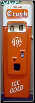 ORANGE CRUSH SODA MACHINE DOOR DISPLAY